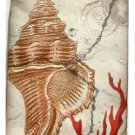 Seashell and Coral Resin Wall Plaque Beach Wall Decor