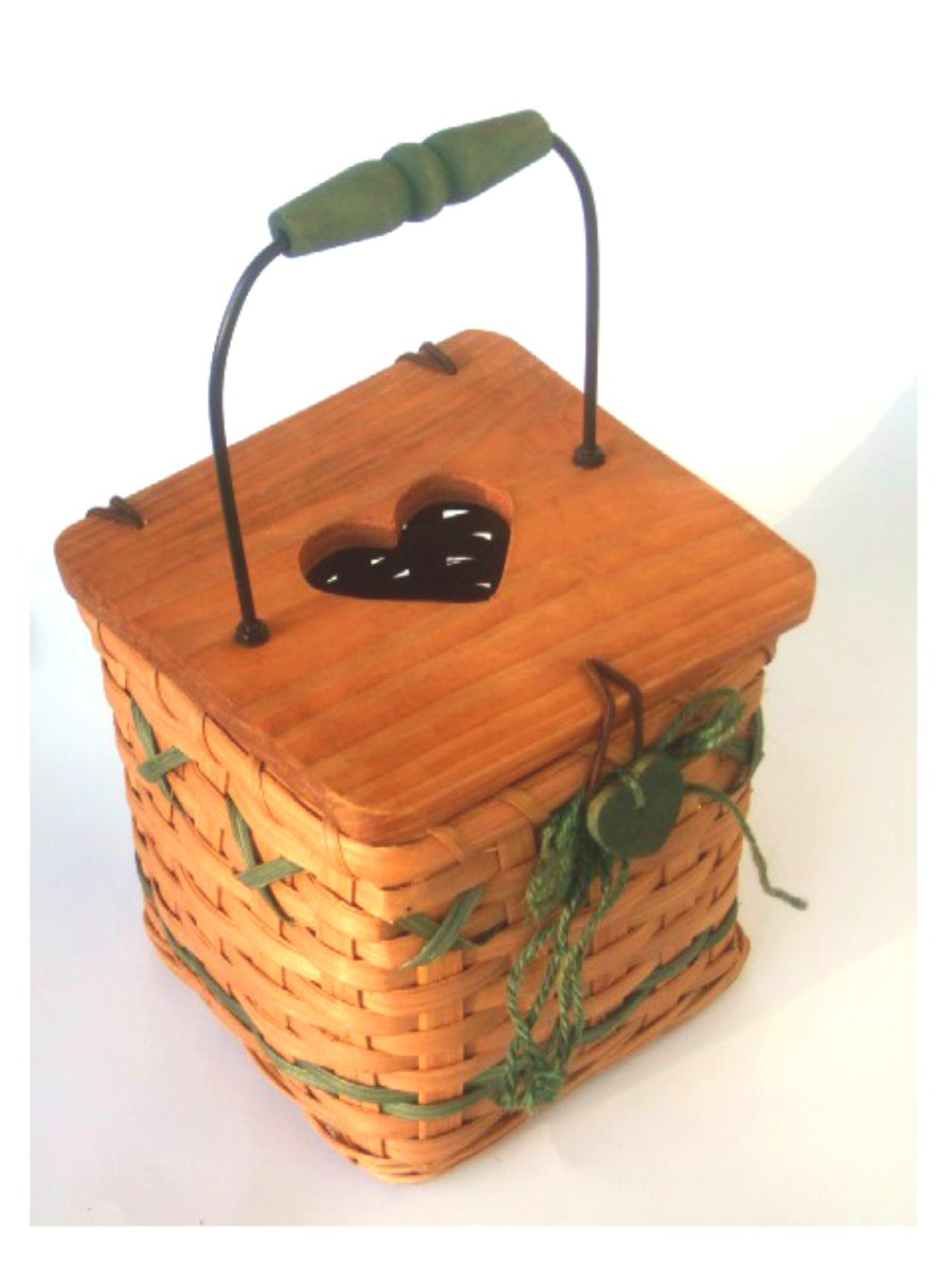 Basket Tissue Box Cover Wood Lid
