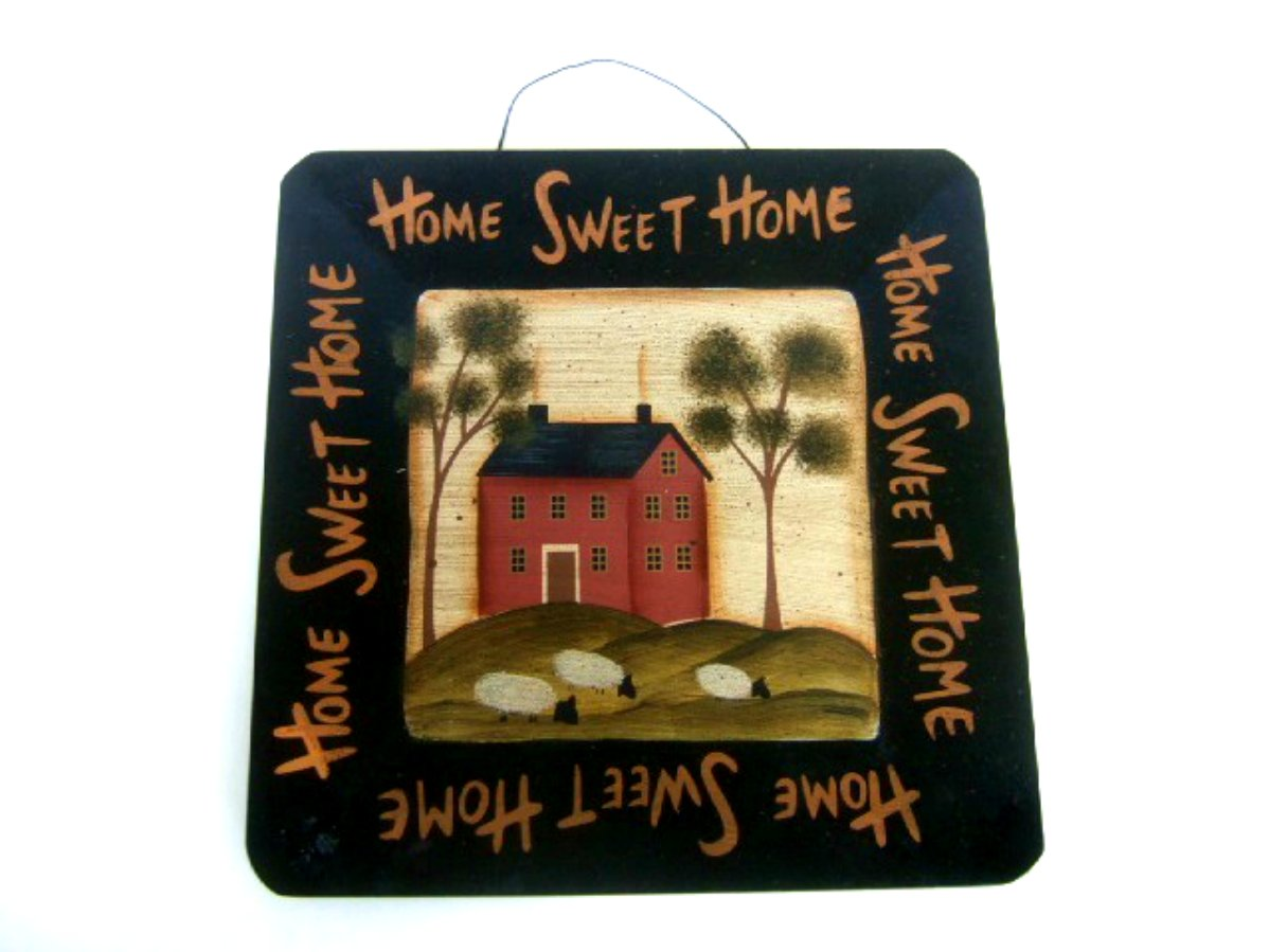Home Sweet Home Country Primitive Wall Plaque