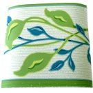 Green Teal Vine Wallpaper Border