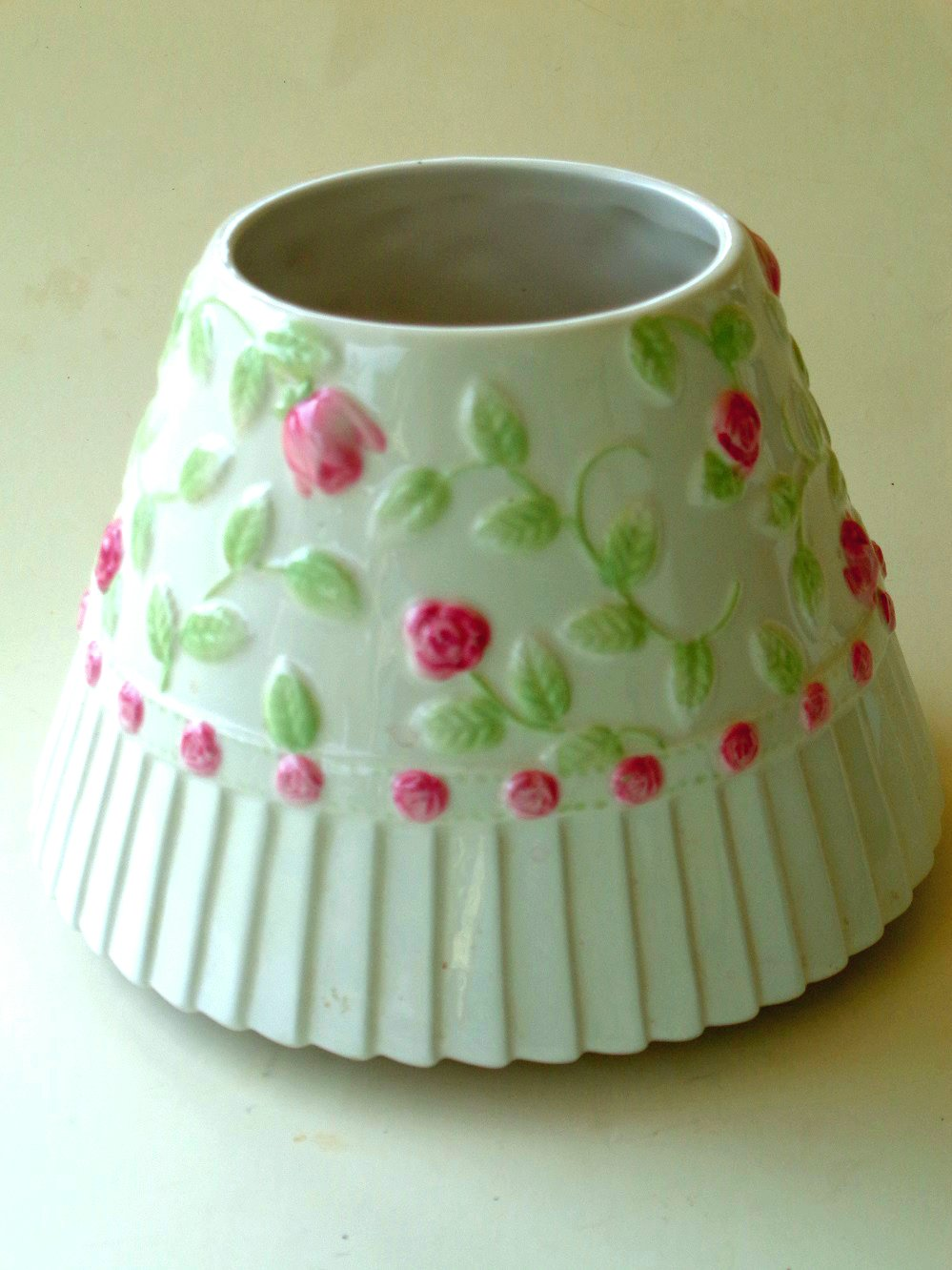 Chic Pink Roses Candle Shade Yankee Candle