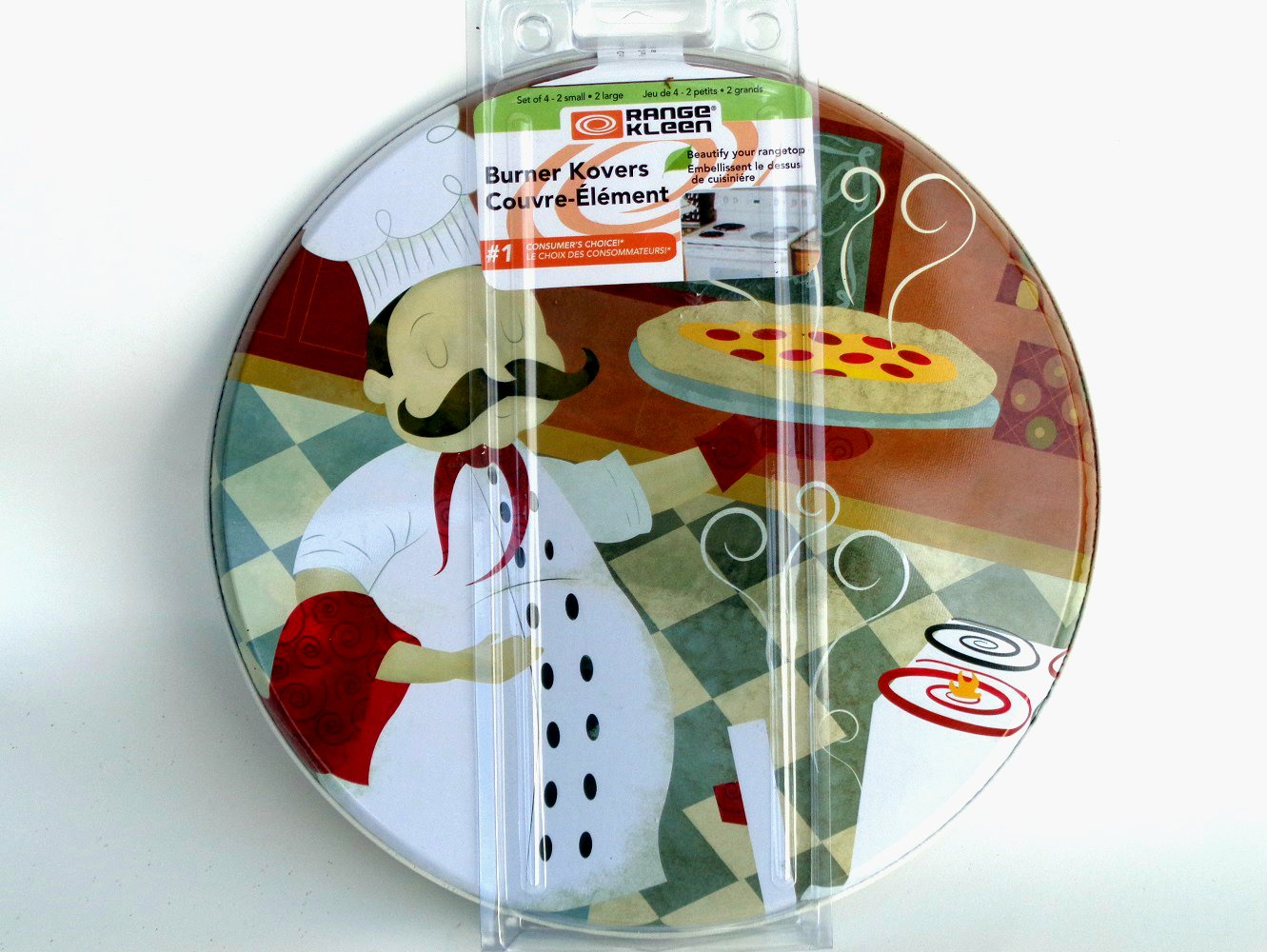 Fat Italian  Chef Range Stove Burner Covers Set