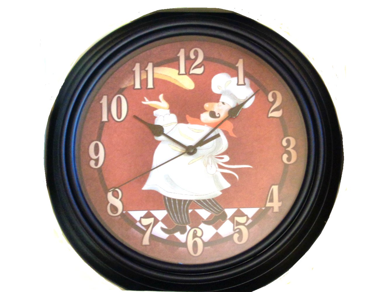 Fat Italian Chef Pizza Kitchen Wall Clock