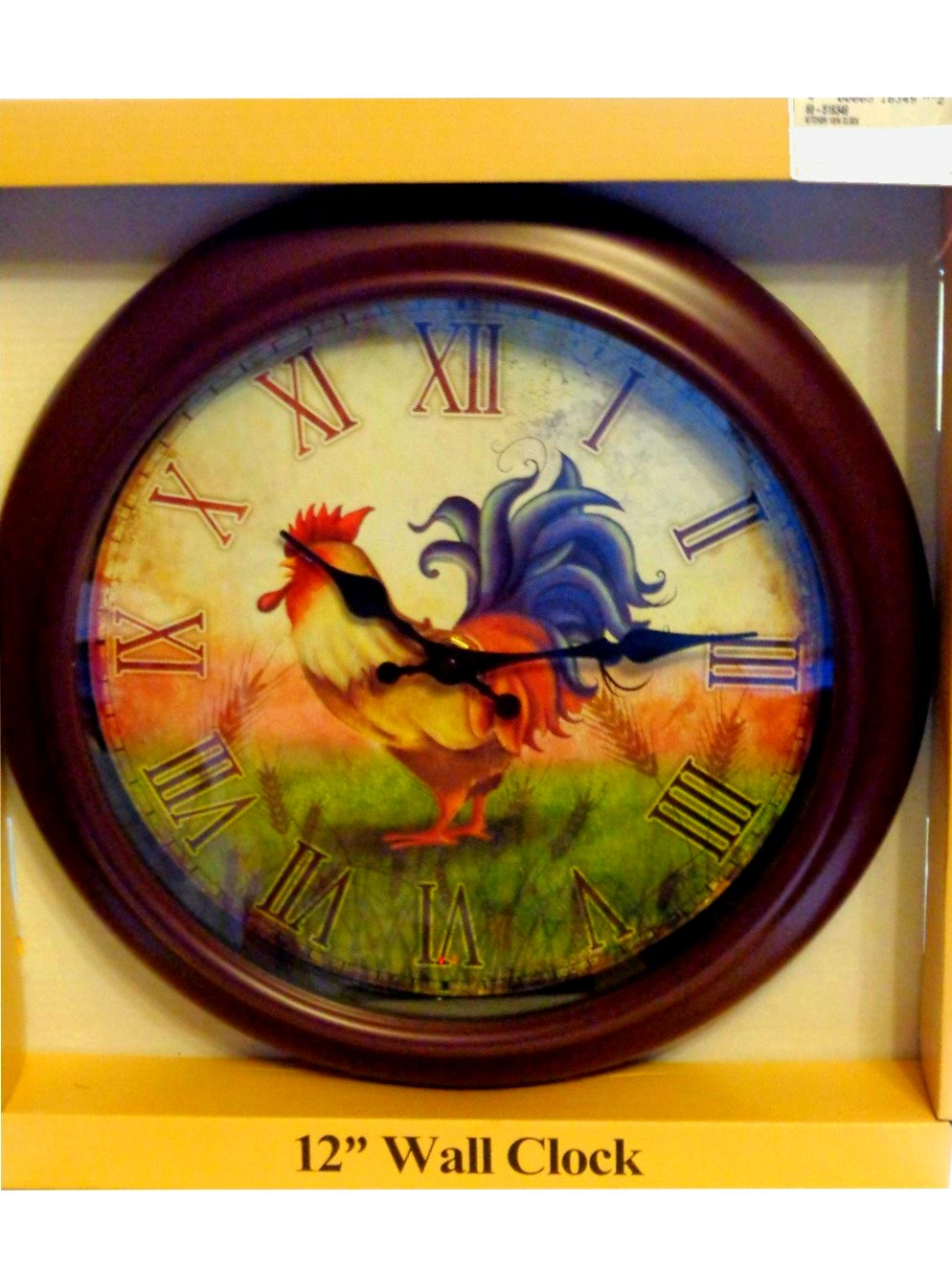 country kitchen wall clocks country rooster kitchen wall clock 6167