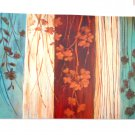 Turquoise Brown Teal Floral Placemats
