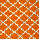 Orange White Geometric Table Runner