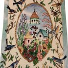 Birds Birdhouses Sunflowers Tapestry Wall Hanging
