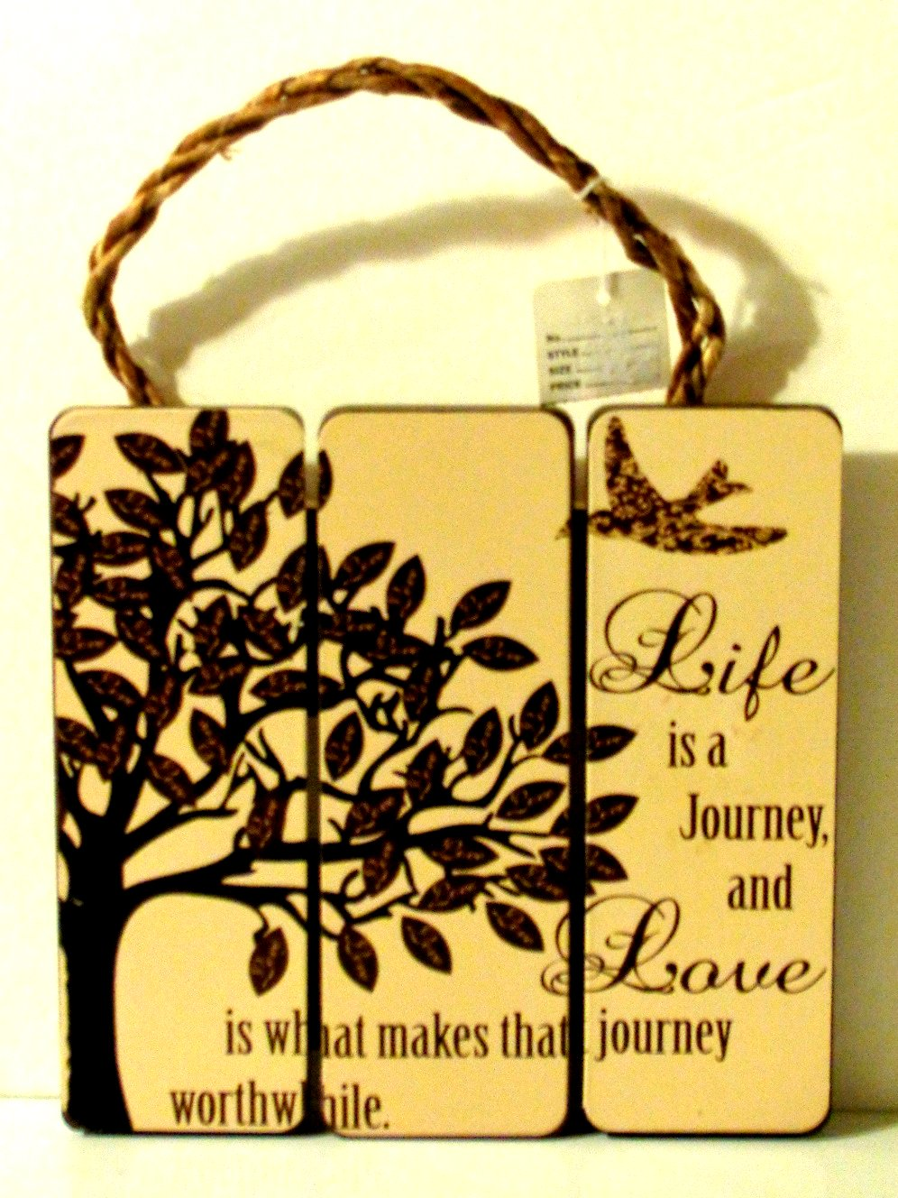 Inspirational Wall Plaque Life is a Journey