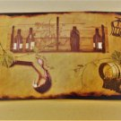 Grapes Wine Bottles Tuscan Kitchen Placemats Set