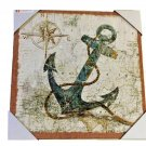Anchor Compass Nautical Canvas Wall Art
