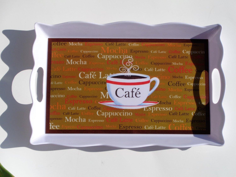 Mocha Cappuccino Cafe Latte Serving Tray