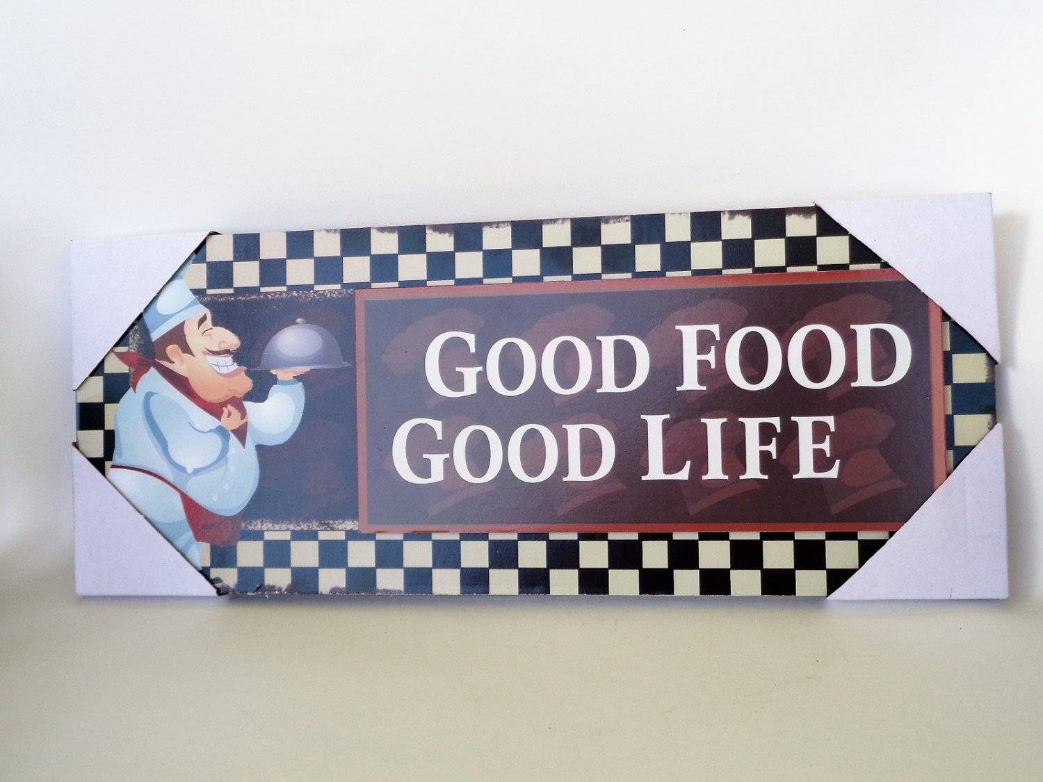 Fat Chef Wood Plaque Good Food Good Life Sign Italian Chefs Kitchen Decor