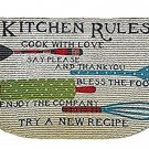 Kitchen Rules Inspirational Kitchen Rug Slice Mat