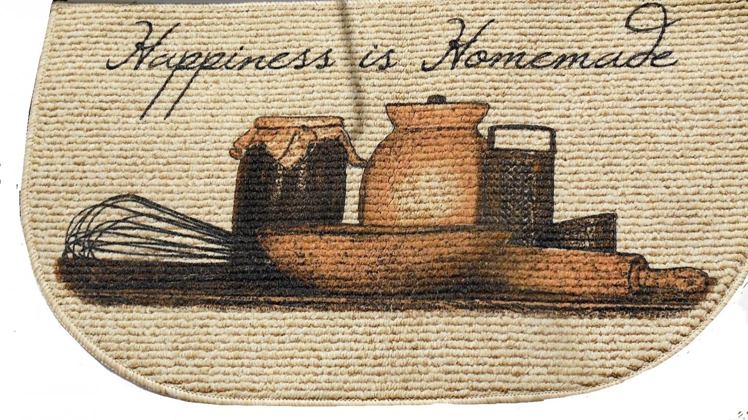 Happiness is Homemade Kitchen Rug Slice Mat