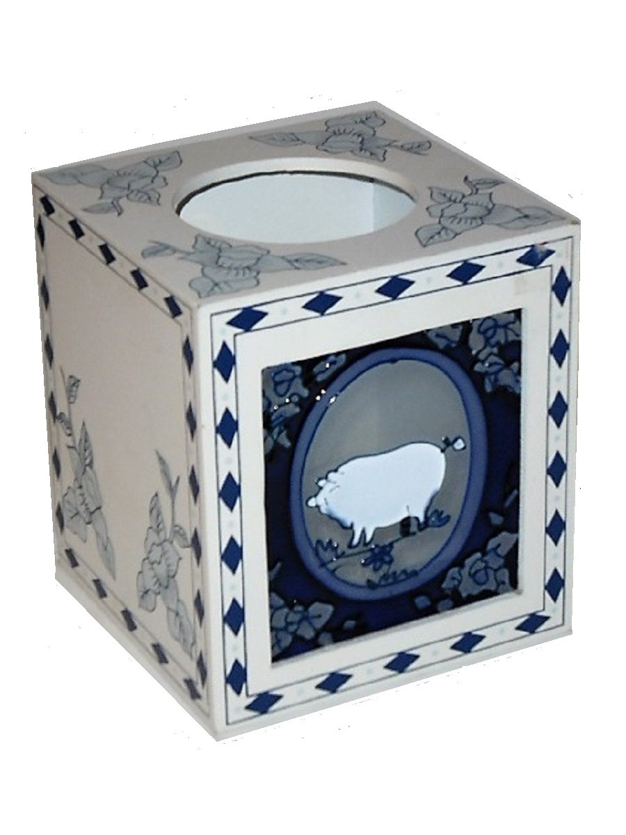 Country Pig Tissue Box Cover Holder