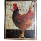 Bon Appetit French Rooster Wall Art Framed Print