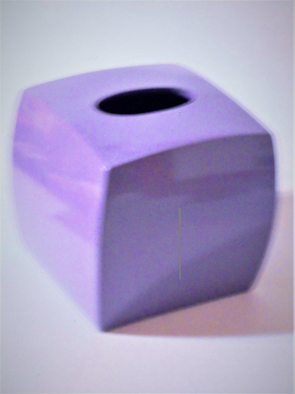 Purple Tissue Box Cover Ceramic