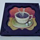 Coffee Cup Metal Wall Art Kitchen Plaque