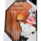 Fat Chef Kitchen Sign Plaque