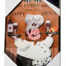 Fat Chef Kitchen or Bar Sign Plaque Happy Hour