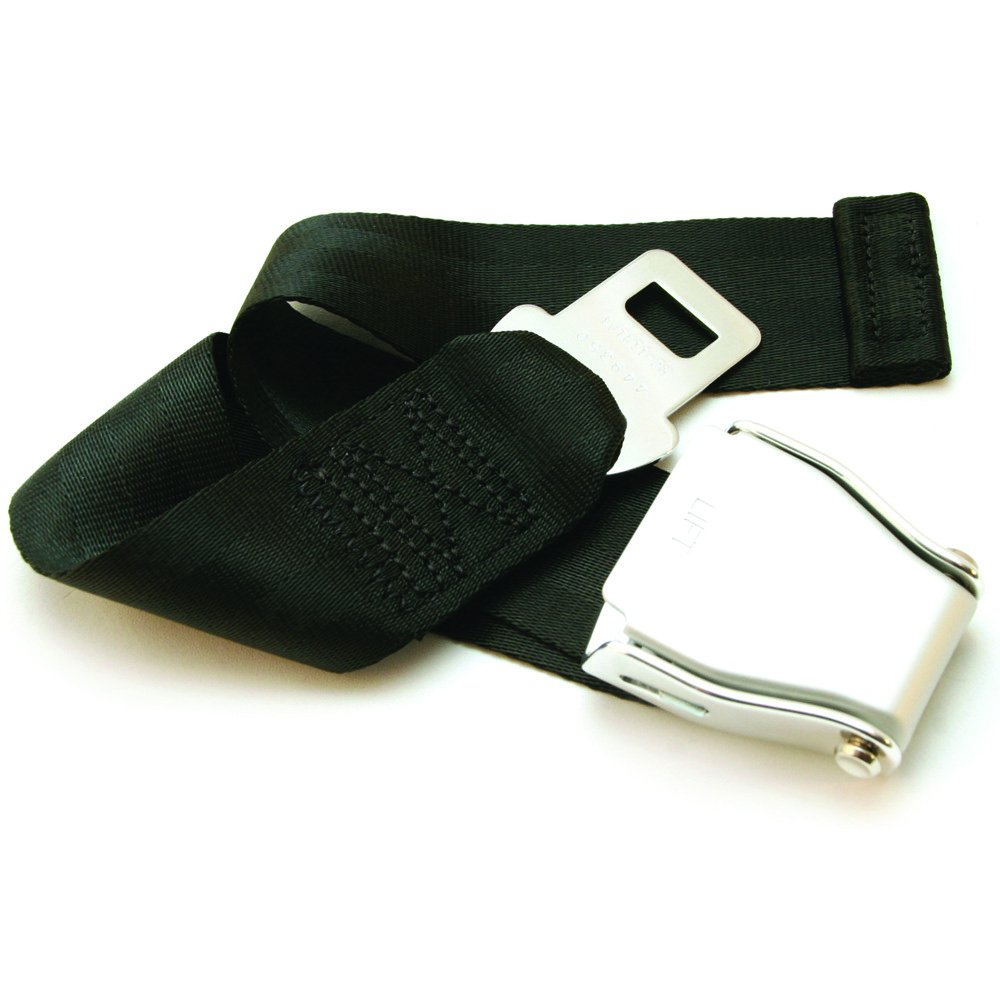 Safety Belt Extender - Black, Type A - With Carrying Case & Owner's Card