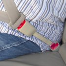 "Rigid 8"" Seat Belt Extender - Type A (7/8"" Metal Tongue) - Beige E4 Safety Certified"