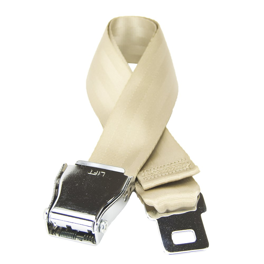 Sand Beige Airplane Seat Belt FlyBuckle Plus-Sized Fashion Belt L