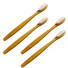 Eco-Friendly Natural Bamboo Toothbrush White 4pack, BPA-Free, Whitening