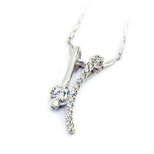 """Sterling Silver Pendant """"Twins"""", Rhodium Plated (DZ-884)"""