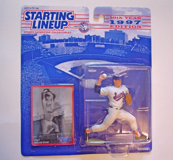 NIB - 1997 Starting Lineup Club Exclusive - Nolan Ryan Action Figure & Card