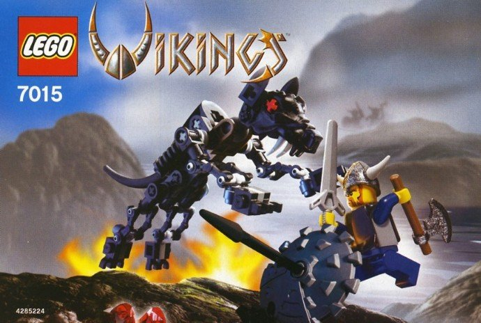 LEGO 7015 - Viking Warrior challenges the Fenris Wolf - NIB