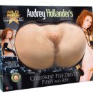 Wildfire Celebrity Series Audrey Hollander's CyberSkin Pile Driver Pussy and Ass