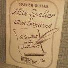 SPANISH GUITAR NOTE SPELLER by Elliot Sweetland