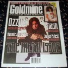 GOLDMINE #466 Ozzy Osbourne Judas Priest Ronnie James Dio June 5, 1998 [SP-500]