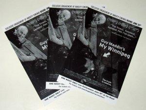 MY WINNIPEG Guy Maddin 3 promo cards Canada 2008 [PM-100f]