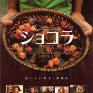 CHOCOLAT Lasse Hallstrom two movie flyers & bonus Japan - Johnny Depp, Juliette Binoche [PM-100f]