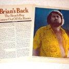 THE BEACH BOYS BRIAN WILSON magazine clipping USA 1976 [PM-100]