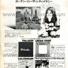 MELANIE Garden in the City LP advert Japan 1972 #1 + PALADIN URIAH HEEP COLLOSEUM OSMONDS [PM-100]