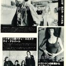 KATE BUSH BOB DYLAN THE ADVERTS magazine clipping Japan 1978 [PM-100]