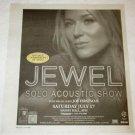 JEWEL Toronto solo acoustic show advertisement Canada 2004 [SP-250t]