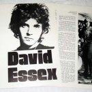 DAVID ESSEX interview magazine clipping UK 1974 [PM-100]