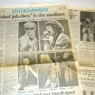 DAVID BOWIE MICK JAGGER JULIAN LENNON Live Aid newspaper clipping Canada 1985 [SP-250t]