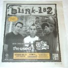 blink-182 Toronto concert newspaper advertisement Canada 2004 #1 [SP-250t]