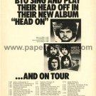BACHMAN-TURNER OVERDRIVE BTO Head On LP magazine advertisement USA [PM-100]