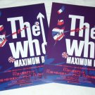 THE WHO Maximum R&B - two concert flyers Japan 2008 [PM-100f]