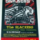 THE SLACKERS International War Criminal CD flyer Japan [PM-100f]