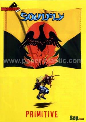 SOULFLY Primitive CD gatefold flyer Japan 2000 & more! [PM-100f]