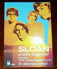 SLOAN Canadian ad card promoting CD & gig [PM-100f]