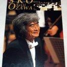 SEIJI OZAWA gorgeous 3-panel CD flyer Japan 2000 [PM-200f]