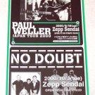 PAUL WELLER (THE JAM) / NO DOUBT gig flyer Japan 2000 [PM-100f]